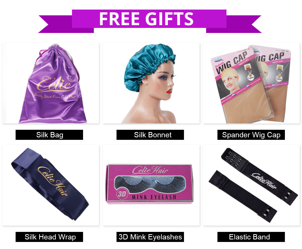 celie wigs free gifts