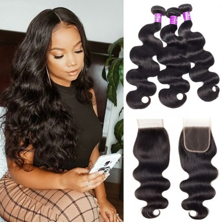 Body Wave 3 Bundles With Closure