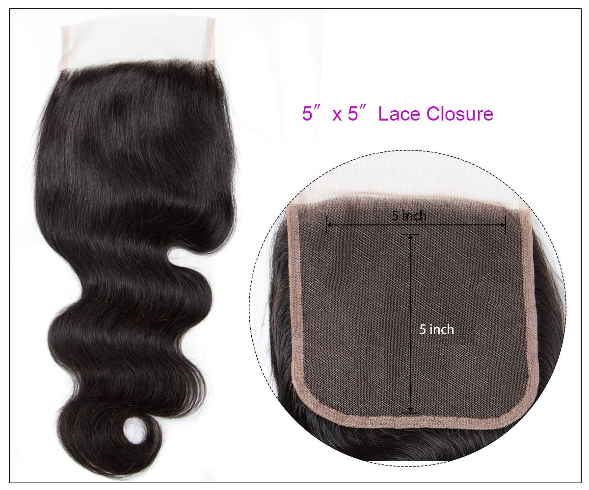 Body Wave 3 Bundles With 5x5 Closure