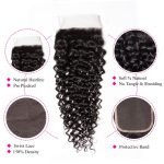 Curly Hair 4×4 Lace Closure