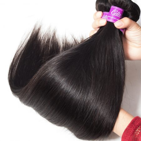 Straight Hair 3 Bundles With 6x6 Lace Closure