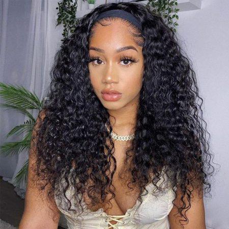 headband deep wave wig