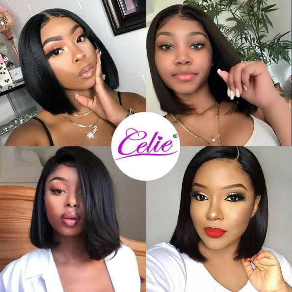 13×4 Straight Bob HD Lace Front Wig (1)