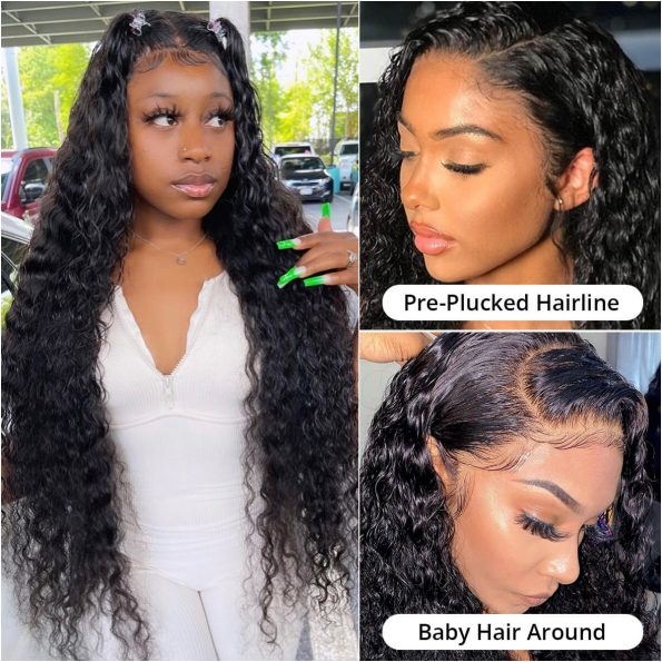 13×4 deep wave lace front wig