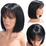 13×4 straight bob wig with bangs (4)