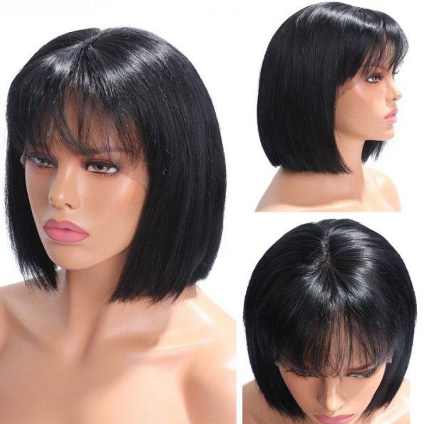 13×4 straight bob wig with bangs (3)