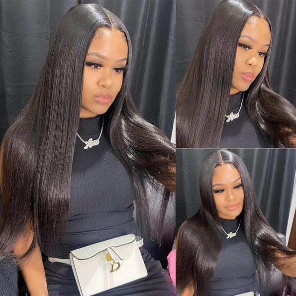 13×6 straight lace front wig