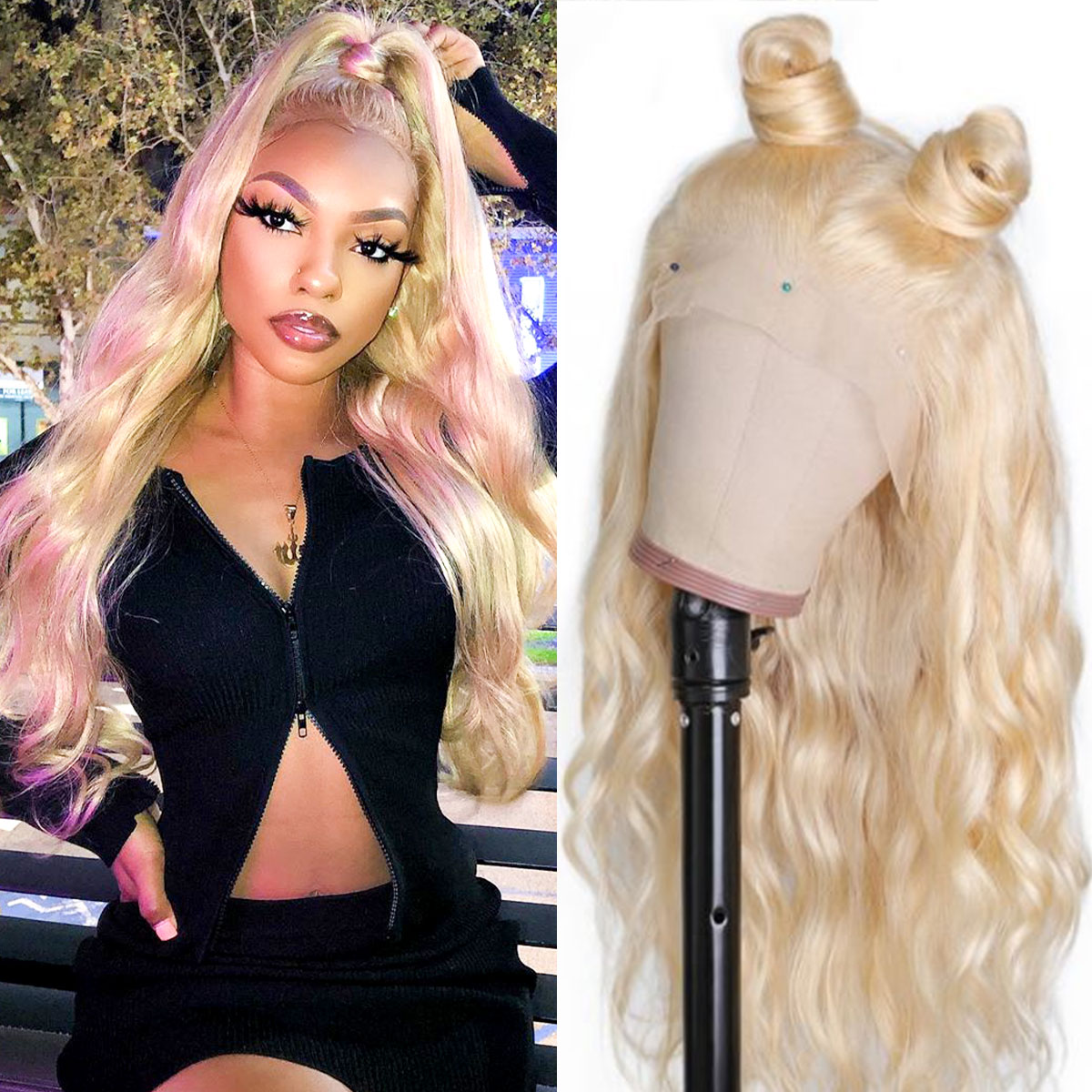 180% Density 613 Brazilian Body Wave Lace Front Wig