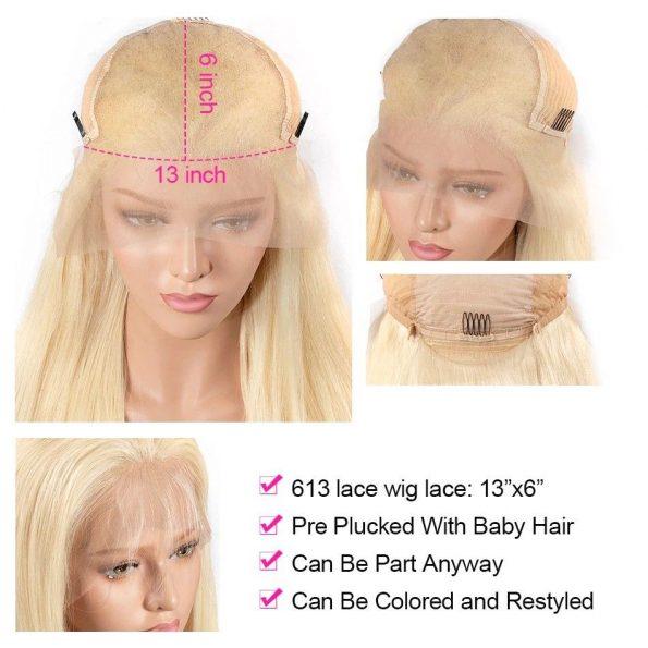 180% Density 613 Brazilian Body Wave Lace Front Wig (4)