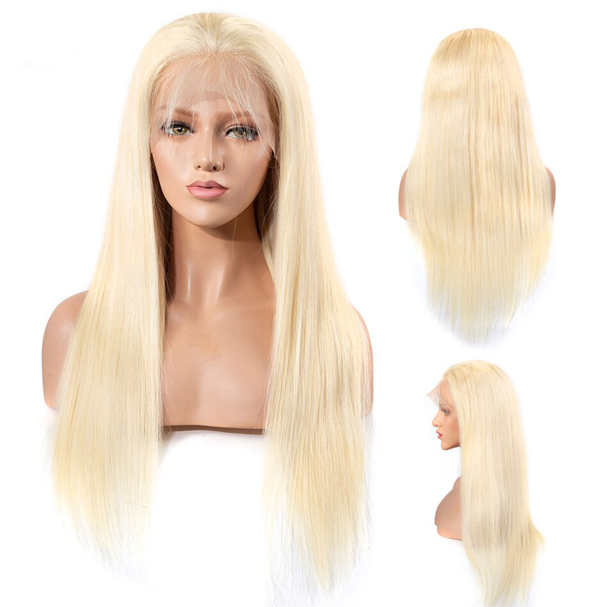 180% Density 613 Brazilian Straight Lace Front Wig