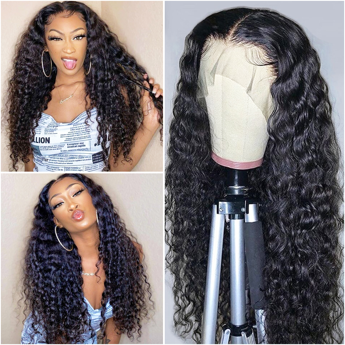 Deep Wave 13x4 Lace Front Wig