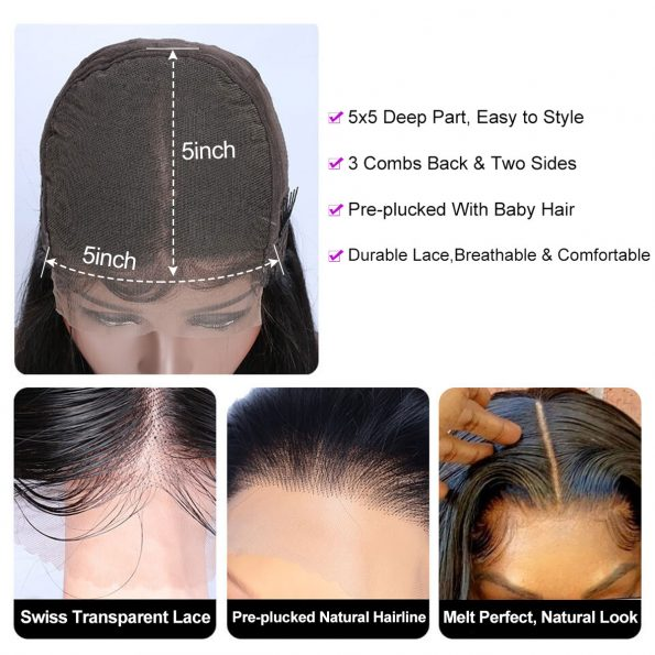 Loose Deep Wave 5×5 Wigs