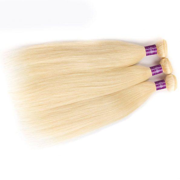 613 Straight Hair 3 Bundles With Closure