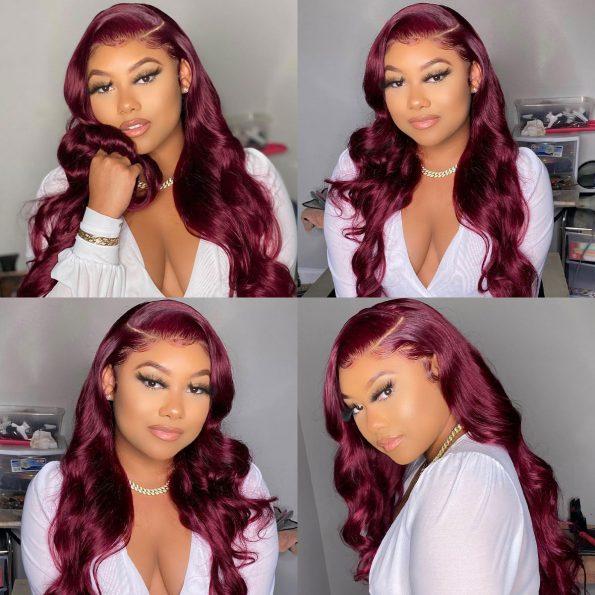 99J Body Wave 5×5 Lace Closure Wigs