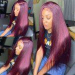 99J Straight 5×5 Lace Closure Wigs
