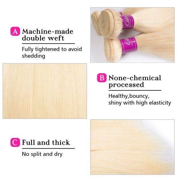 Brazilian 613 Straight Hair 4 Bundles 4