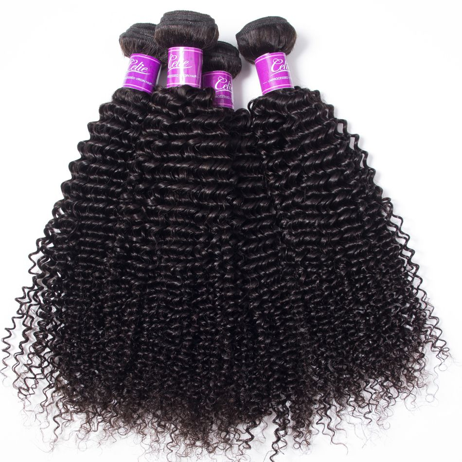 Brazilian Kinky Curly 4 Bundles