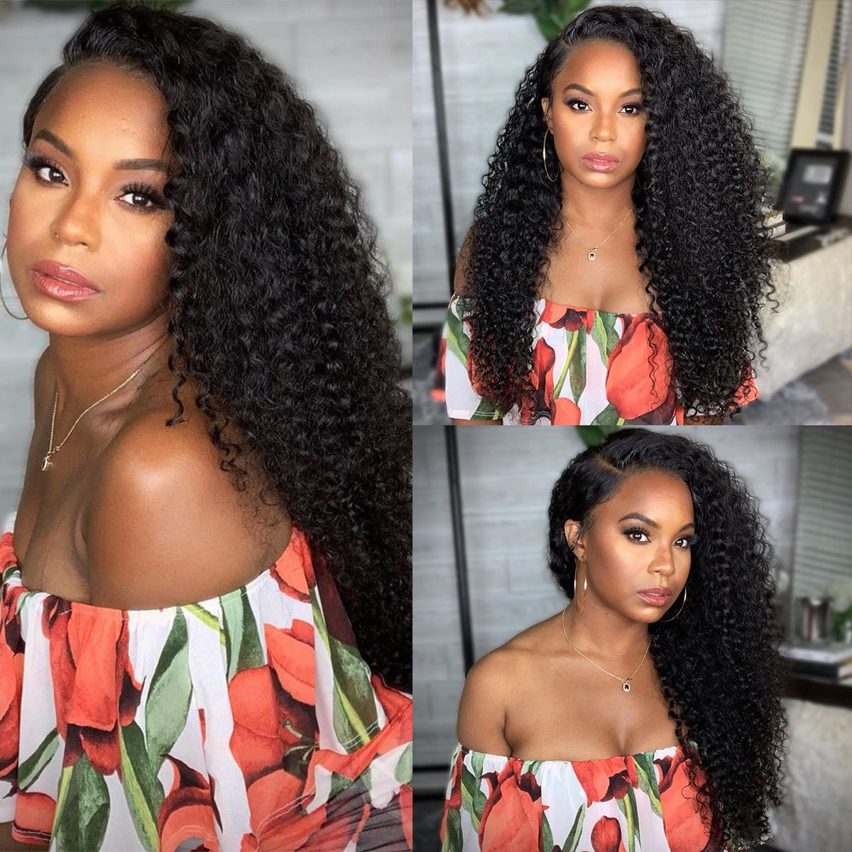 Curly Wave 13x6 Lace Front Wigs