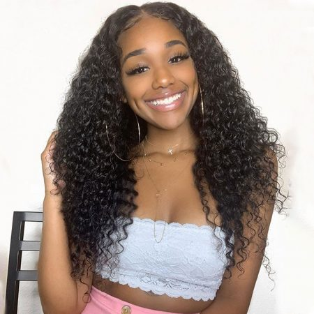 Deep wave lace frontal wig