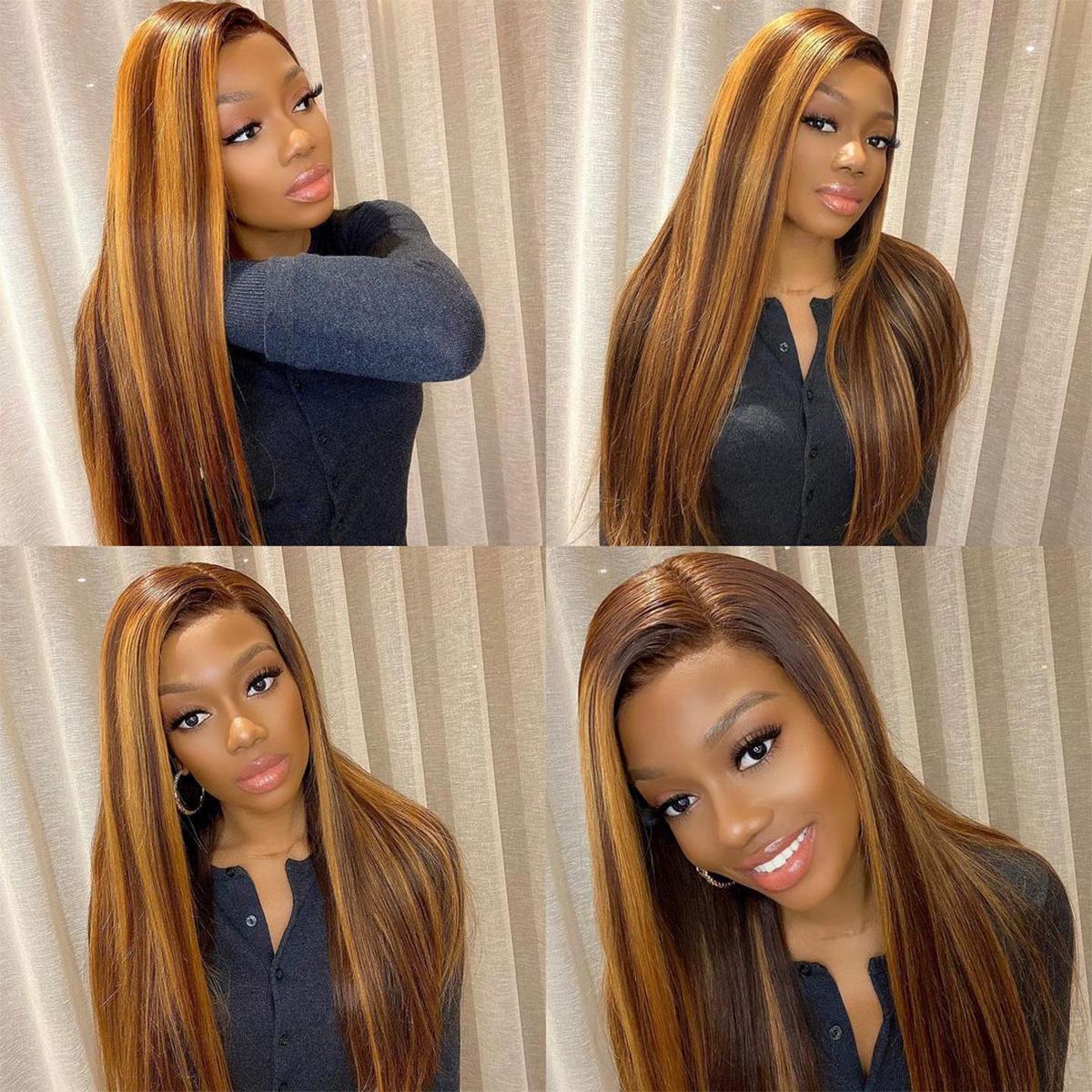 Honey Blonde straight wig