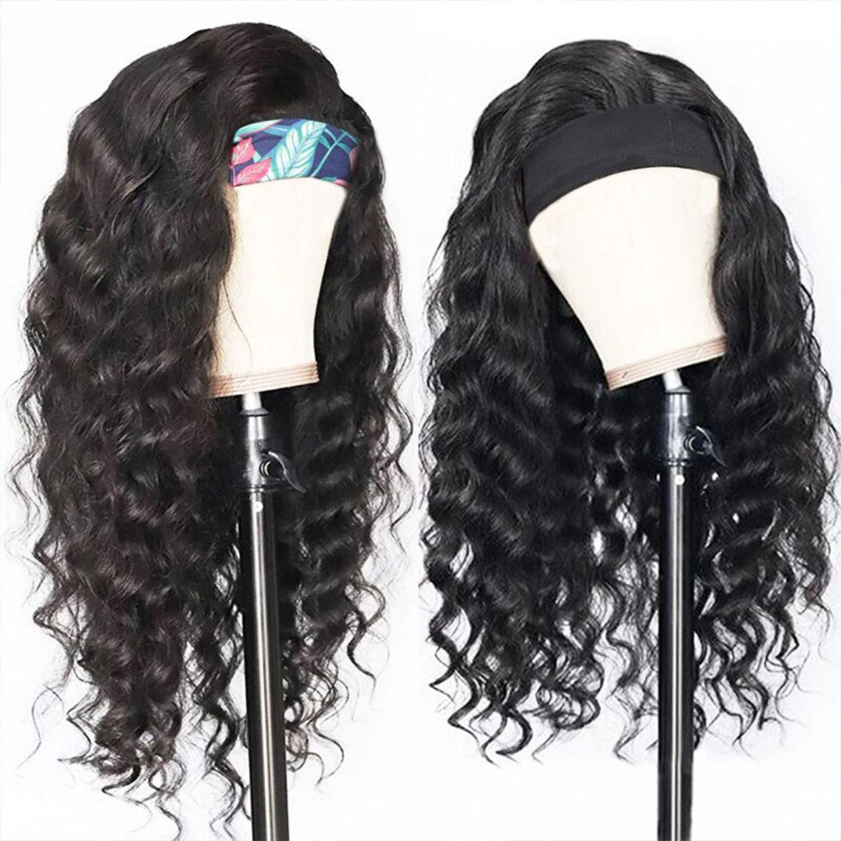 Loose Deep Wave Headband Wig