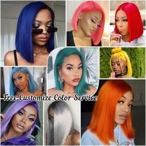 colored bob wig