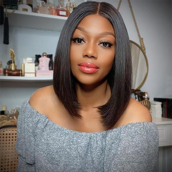 Straight Bob Lace Front Wig (1)