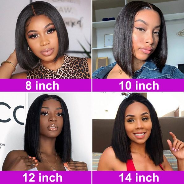Straight Bob Lace Front Wig (5)