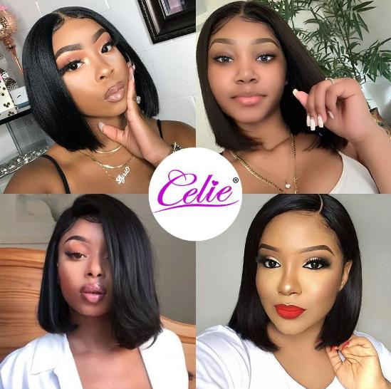 straight human hair 13x4 lace wigs