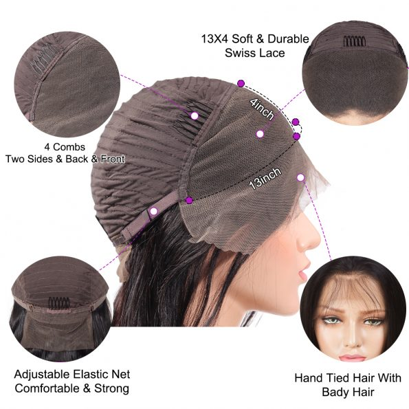 Water wave short cut wig (8)