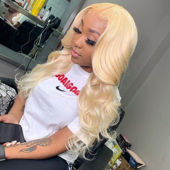 celie blonde hair body wave 4x4 lace wig