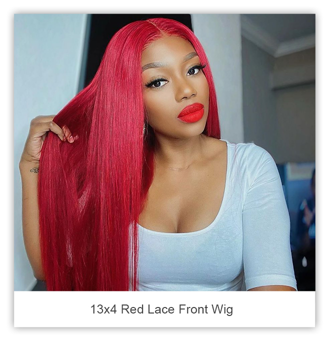 celie hair 13x4 red lace front wig