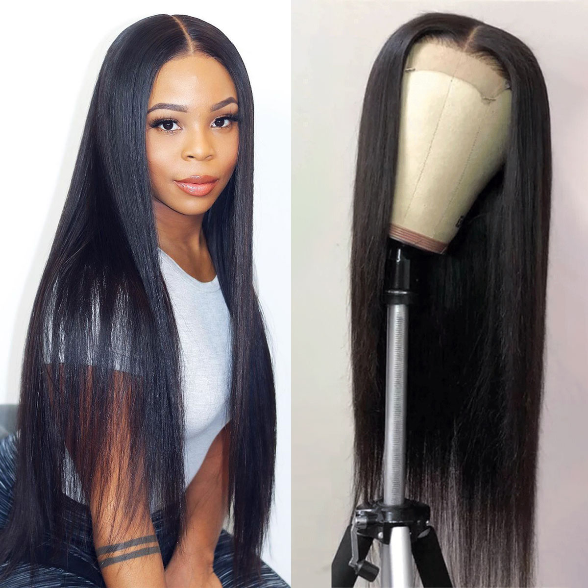 celie straight hair 6x6 Lace Closure Wig