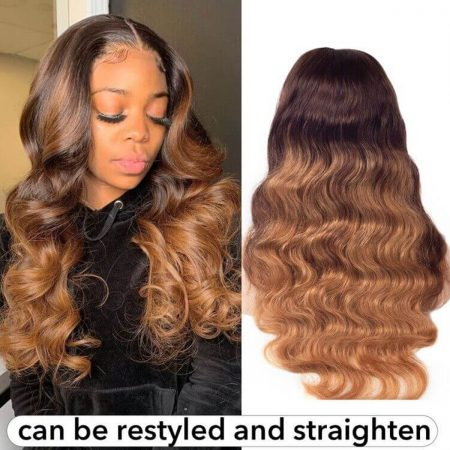 colored body wave wig