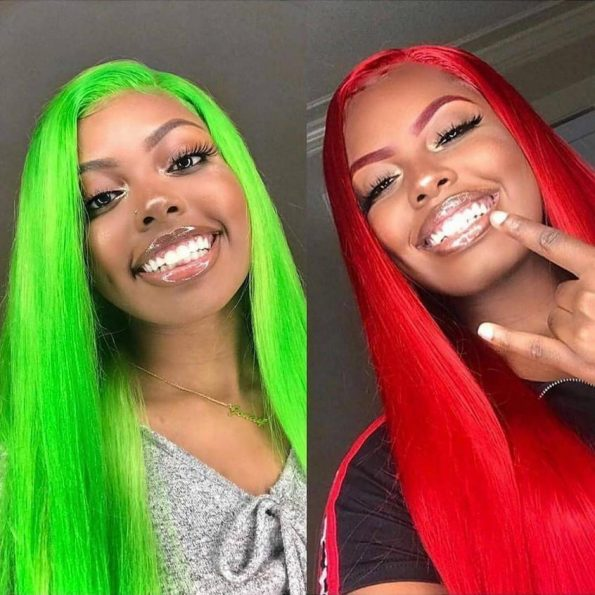 coloring human hair wig