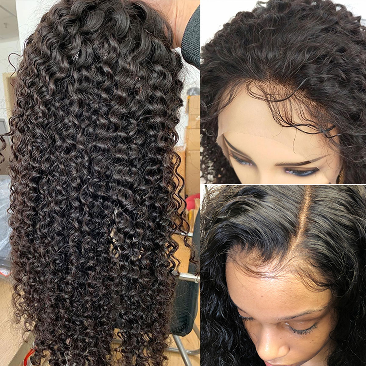 curly hair 6x6 lace wigs