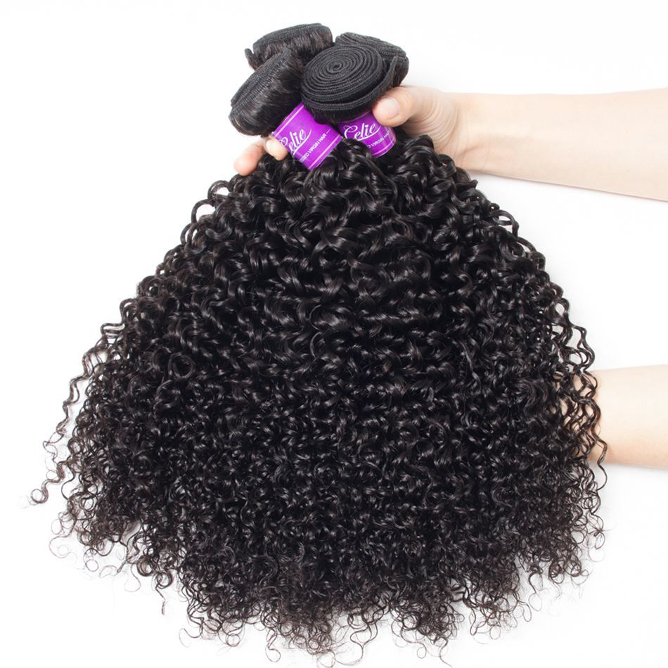 Curly Hair 4 Bundles With Closure