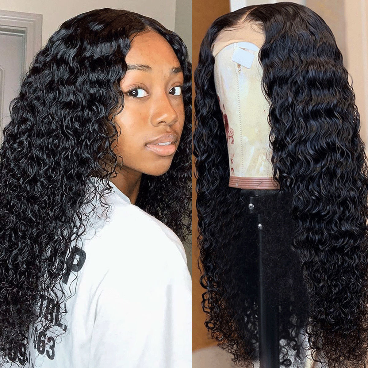 deep curly wave 360 lace wigs