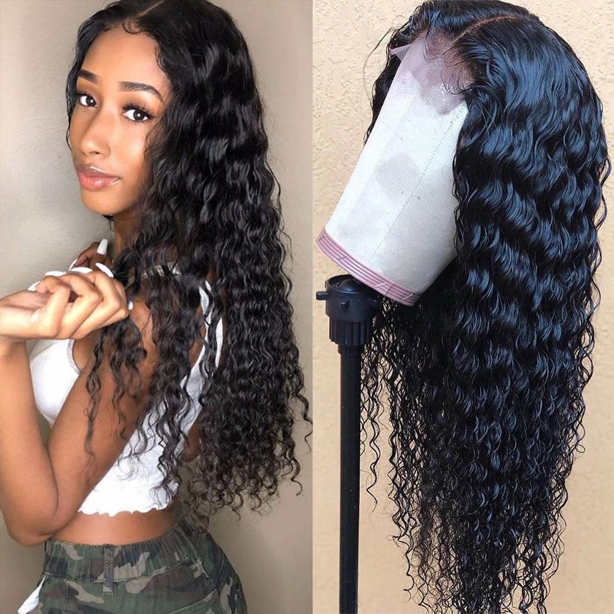 deep wave 4x4 lace wigs