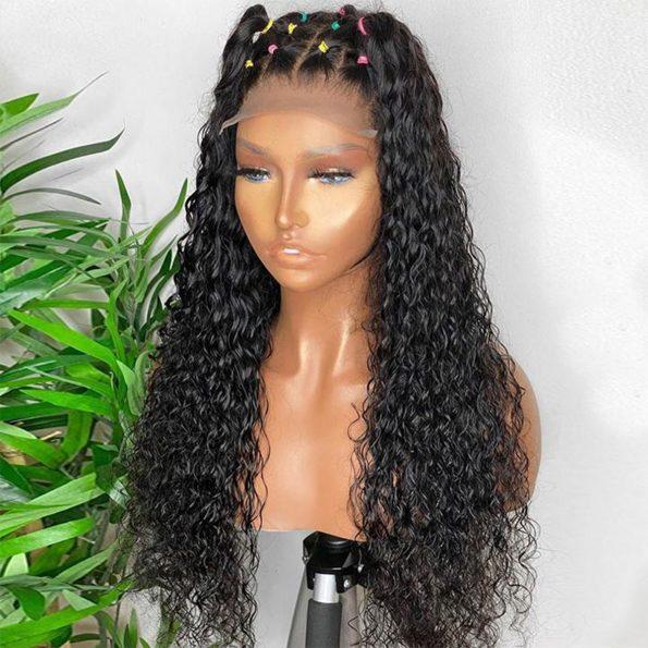 hd water wave closure wig10