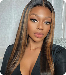 highlight straight lace wig