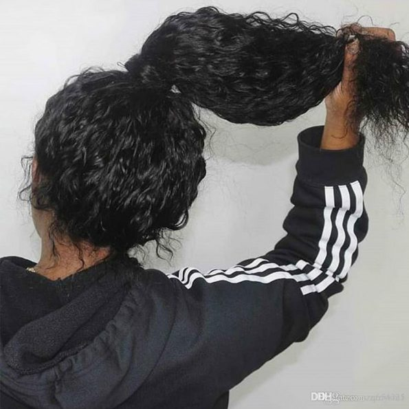 human hair curly wig