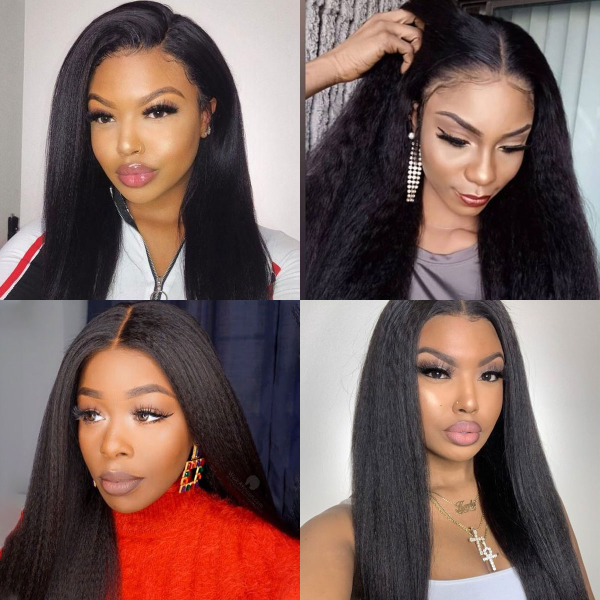 kinky straight 360 lace wigs