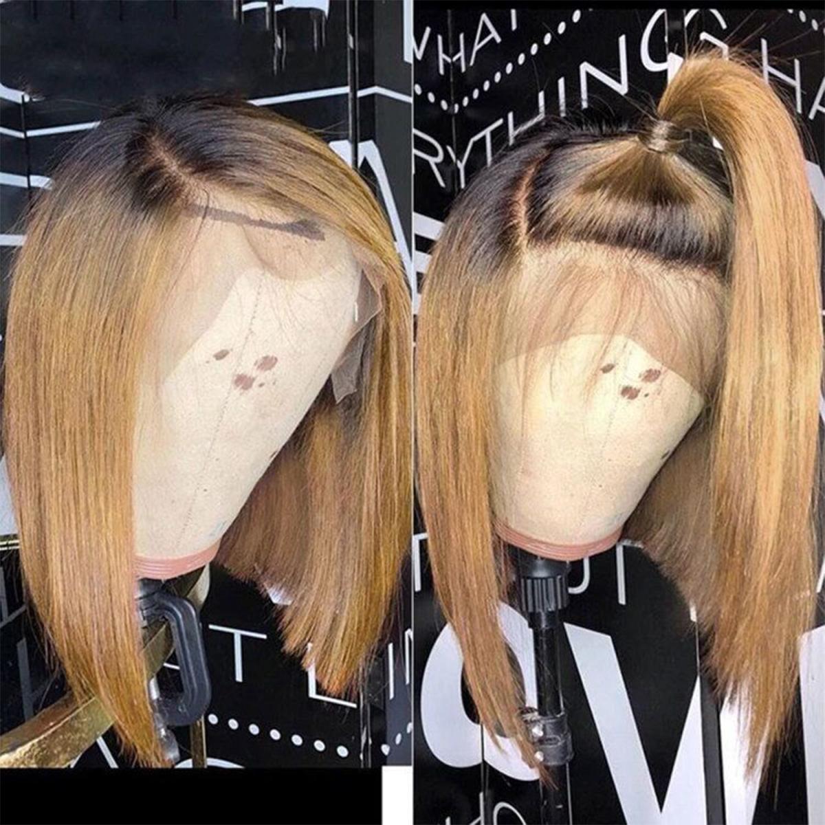 straight Hair 1B/27 bob wig