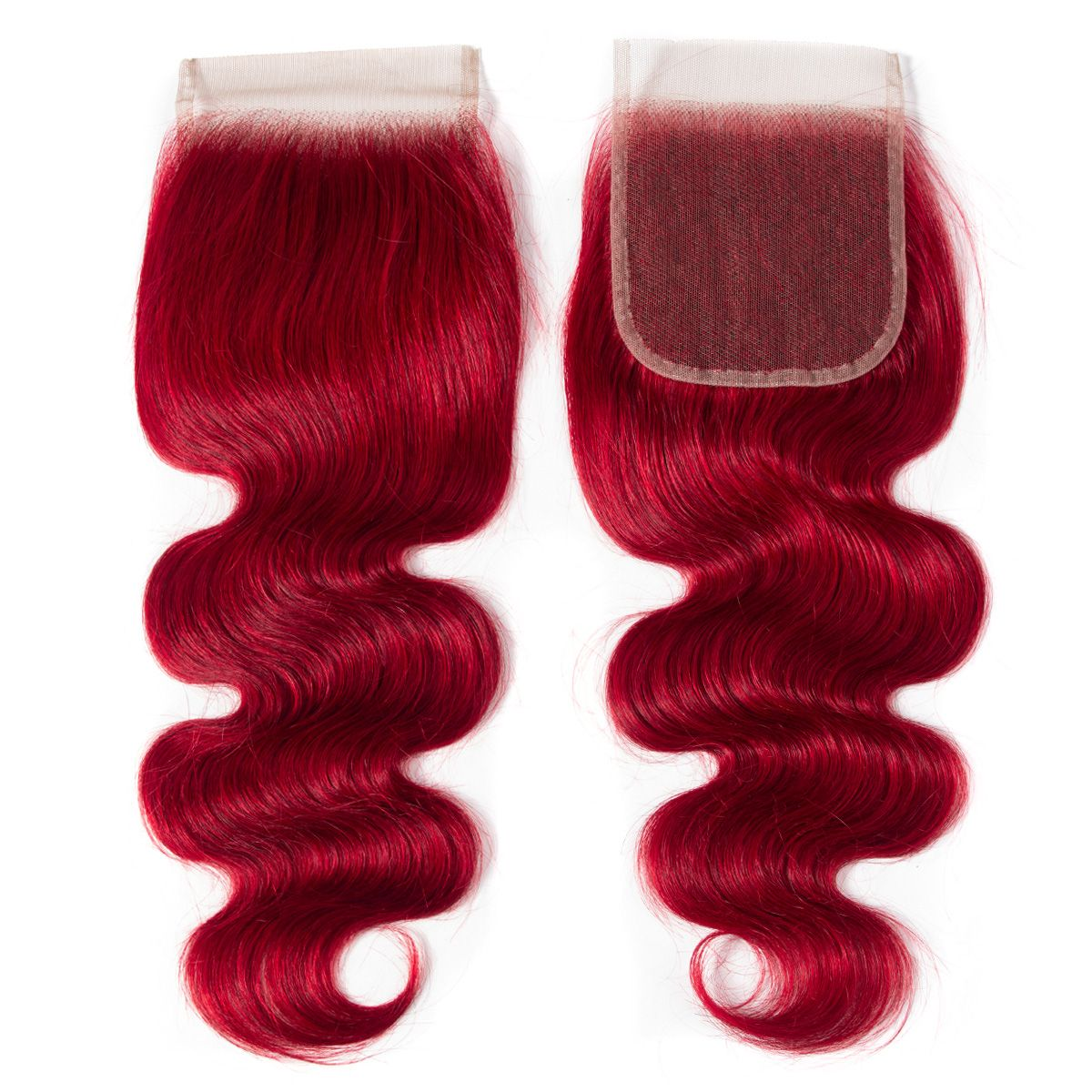 Red Body Wave 3 Bundles With Closure