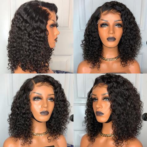 short human hair lace wig