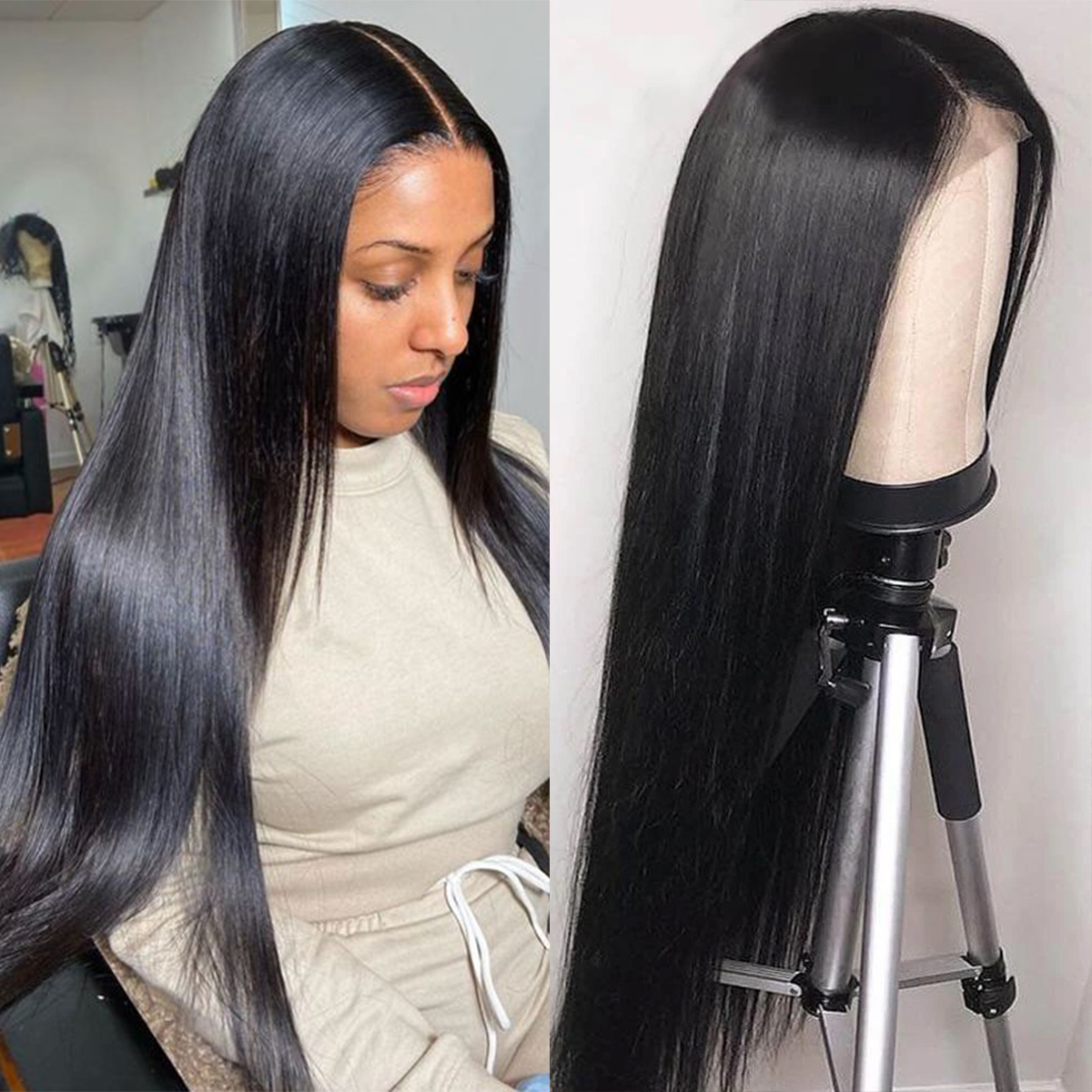 straight hair 6x6 Lace Closure Wig