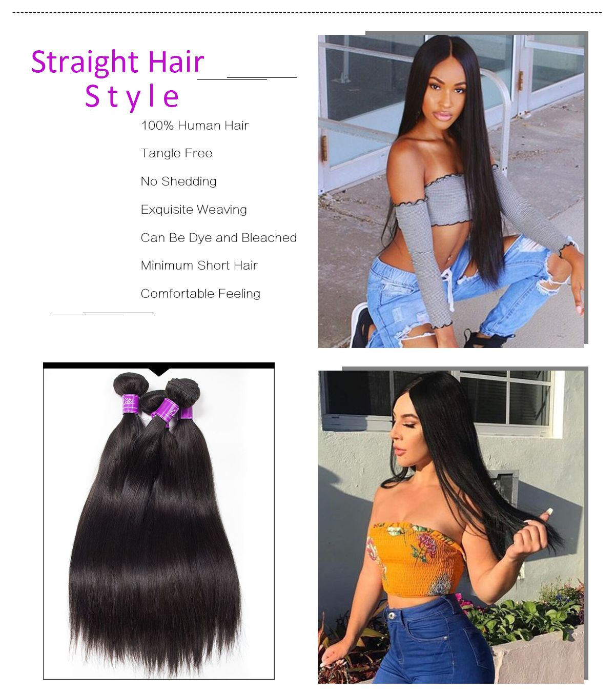 Straight Hair 4 Bundles With Frontal