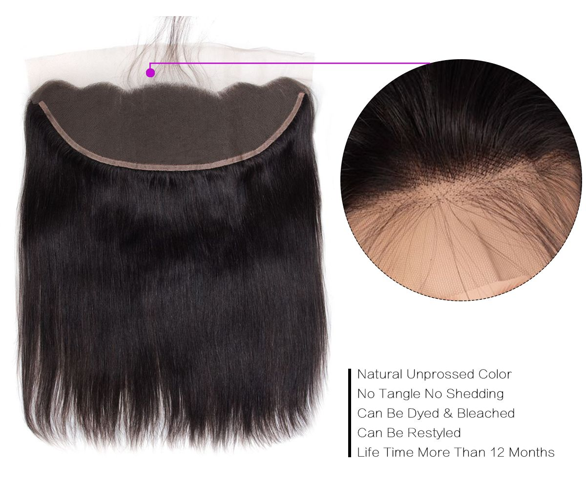 Straight Hair 3 Bundles With Frontal