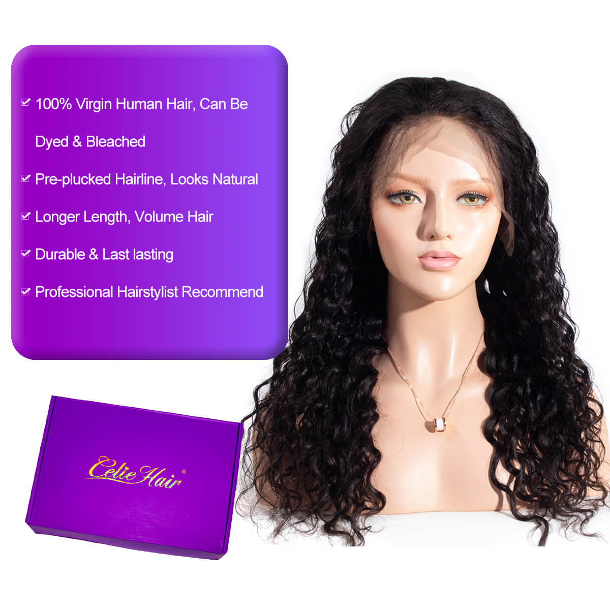 Water Wave 13x4 HD Lace Front Wigs